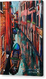 The Colors Of Venice Acrylic Print by Mona Edulesco