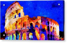 The Colosseum Tnm Acrylic Print by Vincent DiNovici