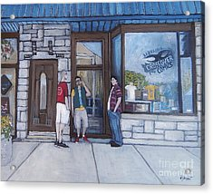 The Comic Book Shop Acrylic Print by Reb Frost