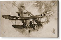 German Biplane From The First World War Acrylic Print by English School