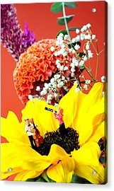 The Concert In The Flower Miniature Art Acrylic Print by Paul Ge