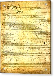 The Constitution Of The United States Of America Acrylic Print by Design Turnpike