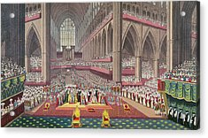 The Coronation Of King William Iv And Queen Adelaide, 1831 Colour Litho Acrylic Print by English School