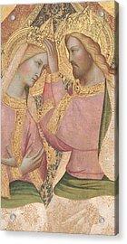 The Coronation Of The Virgin Acrylic Print by Agnolo Gaddi