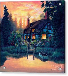 The Cottage Acrylic Print by MGL Studio - Chris Hiett