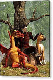The Courageous Hunters Acrylic Print by Daniel Eskridge