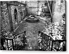 The Courtyard At The Old North Church Acrylic Print by John Rizzuto