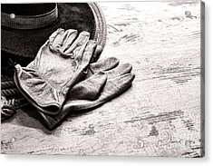 The Cowboy Gloves Acrylic Print by Olivier Le Queinec