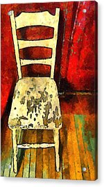 The Cream-colored Chair Acrylic Print by RC deWinter