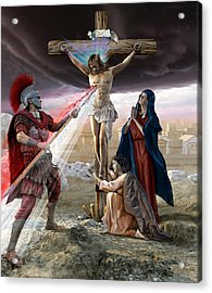 The Crucifixion Acrylic Print by Kurt Miller