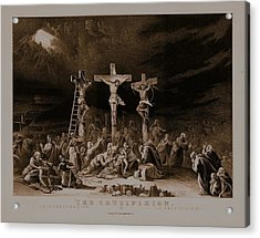 The Crucifixion / La Crucificazion / La Crucifixion  Acrylic Print by N Currier the Firm