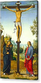 The Crucifixion With The Virgin Saint John Saint Jerome And Saint Mary Magdalene Acrylic Print by Pietro Perugino