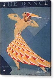 The Dance 1920s Usa Art Deco Magazines Acrylic Print by The Advertising Archives