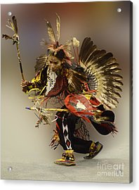 Pow Wow The Dance Acrylic Print by Bob Christopher