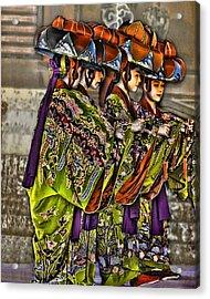 The Dance Acrylic Print by Karen Walzer
