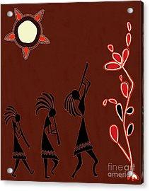 The Dancers Acrylic Print by Barbara Drake