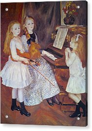 The Daughters Of Catulle Mendes Acrylic Print by Pierre Auguste Renoir