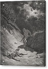 The Death Of Abel Acrylic Print by Gustave Dore