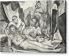 The Death Of Beowulf Acrylic Print by John Henry Frederick Bacon