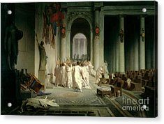 The Death Of Caesar Acrylic Print by Jean Leon Gerome