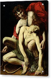The Death Of Hyacinthus  Acrylic Print by Italian School