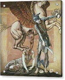 The Death Of Medusa I, C.1876 Acrylic Print by Sir Edward Coley Burne-Jones