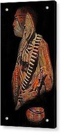 The Defiant Warrior Acrylic Print by Terril Heilman