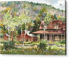 The Delonde Homestead At Caribou Ranch Acrylic Print by Anne Gifford