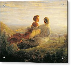 The Departure Of The Soul Acrylic Print by Louis Janmot