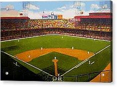 The Detroit Tigers Briggs Stadium Around 1940 Acrylic Print by Dwight Goss