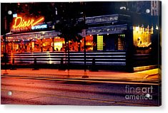 The Diner On Sycamore Acrylic Print by Gary Gingrich Galleries