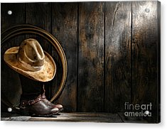 The Dirty Hat Acrylic Print by Olivier Le Queinec