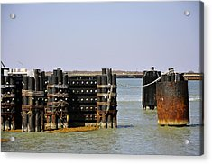 The Docks Acrylic Print by Cherie Haines