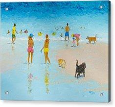 The Dog Beach Acrylic Print by Jan Matson