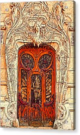 The Door Acrylic Print by Jack Zulli