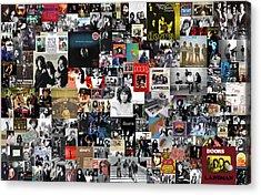 The Doors Collage Acrylic Print by Taylan Apukovska
