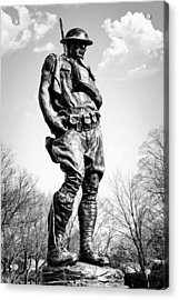 The Doughboy - Tribute To The American Expeditionary Forces Of World War 1 Acrylic Print by Gary Heller