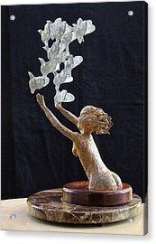 The Dove Maiden Acrylic Print by Dan Redmon