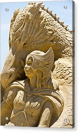 The Dragon And The Goddess Acrylic Print by Tom Gari Gallery-Three-Photography
