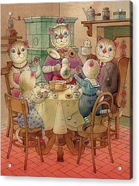 The Dream Cat 08 Acrylic Print by Kestutis Kasparavicius