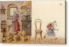 The Dream Cat 12 Acrylic Print by Kestutis Kasparavicius