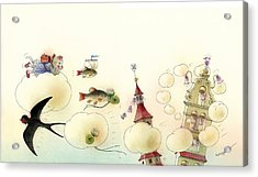 The Dream Cat 13 Acrylic Print by Kestutis Kasparavicius