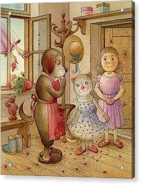 The Dream Cat 19 Acrylic Print by Kestutis Kasparavicius