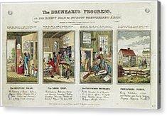 The Drunkard's Progress Acrylic Print by Library Of Congress