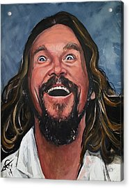 The Dude Acrylic Print by Tom Carlton