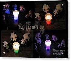 The Earth Hour In The Pandaland Acrylic Print by Ausra Huntington nee Paulauskaite