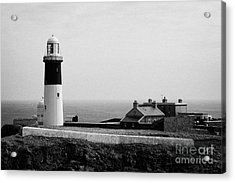 The East Light Lighthouse And Buildings Altacarry Altacorry Head Rathlin Island  Acrylic Print by Joe Fox