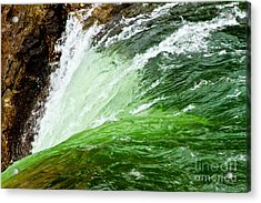 The Edge Acrylic Print by Bill Gallagher