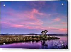 The Edge Of Night Acrylic Print by Marvin Spates