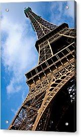The Eiffel Tower From Below Acrylic Print by Nila Newsom